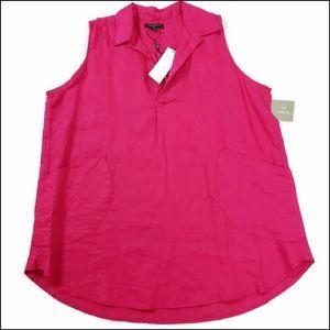 Plus Size Ladies Linen Blouse by For Cynthia Sz.1X